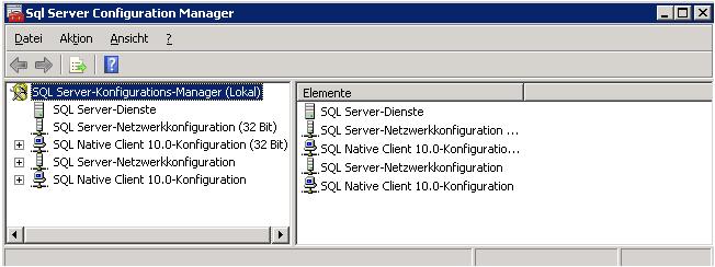 SQL-Server Configuration Manager