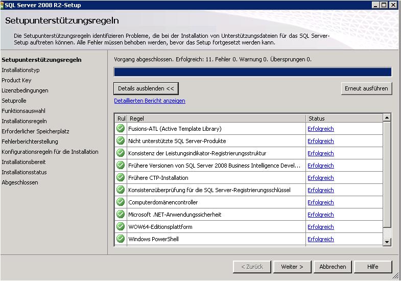 Bereitstellung einer SQL-Instanz für die Installation eines Project ...